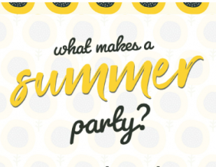 Summer parties infographic