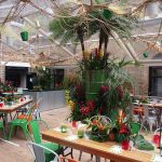 Tropical themed summer party at The Brewery, London