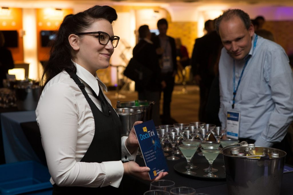 Drinks being offered at a conference