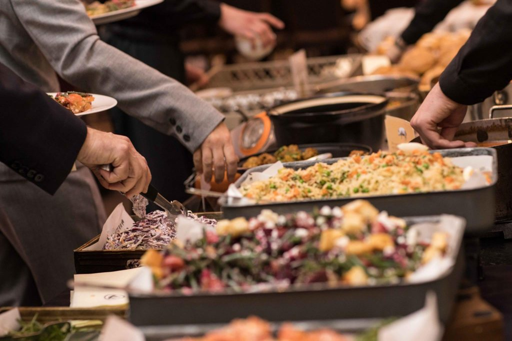 delicious food buffet for event attendees