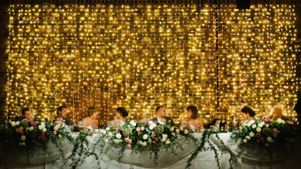 Incredible wedding venue lighting