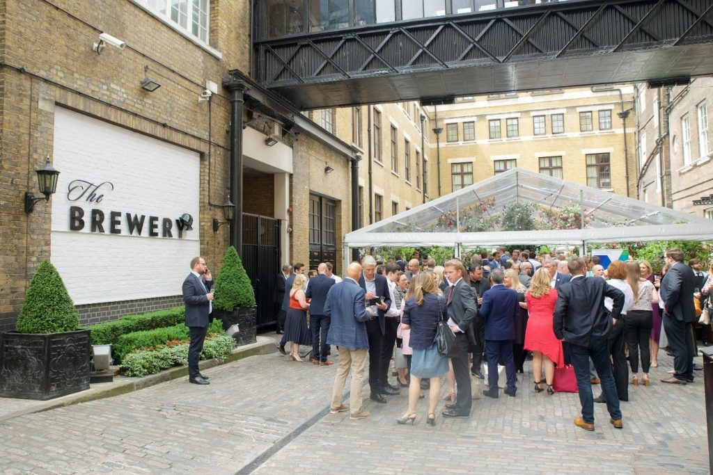Outside view of the Brewery Summer Party Venue in London
