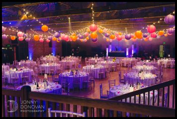 Beautifully presented wedding reception venue
