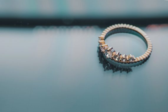 New engagement ring with diamonds