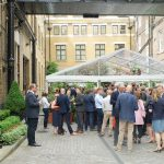 Corporate summer party in The Brewery courtyard in London