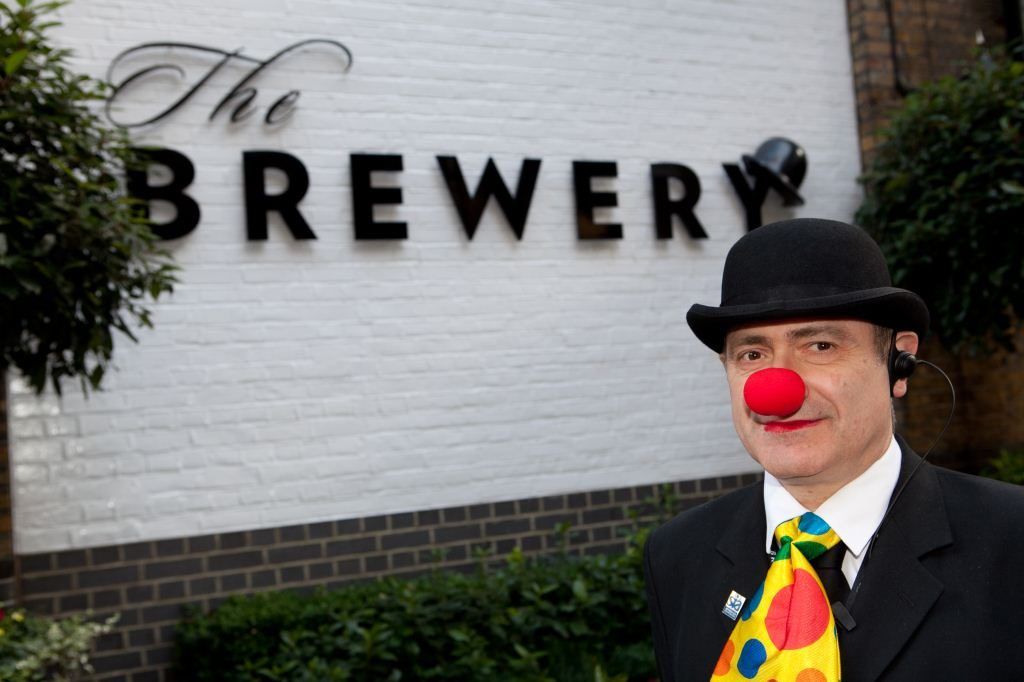 The Brewery doorman in fancy dress for an event