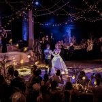 The first dance at a wedding reception in the Porter Tun at The Brewery in London