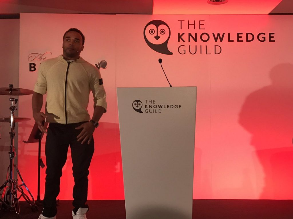Nicolas Hamilton speaks at The Knowledge Guild conference at The Brewery