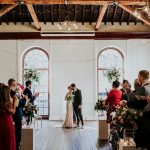 Wedding ceremony in the Upper Sugar Room at The Brewery