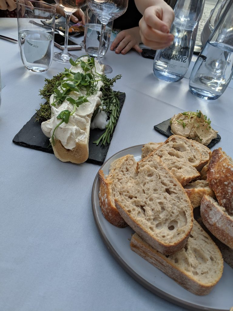 Beef butter and sourdough bread by the Brewery chefs