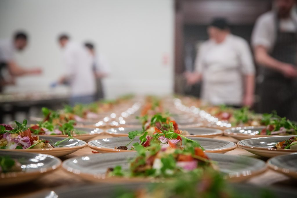 Food being prepared at The Brewery