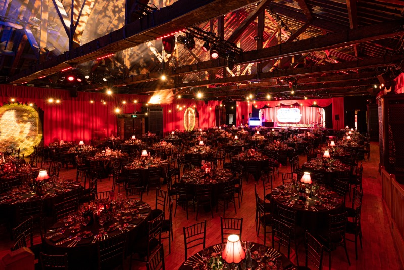 Layout for a charity awards dinner in London