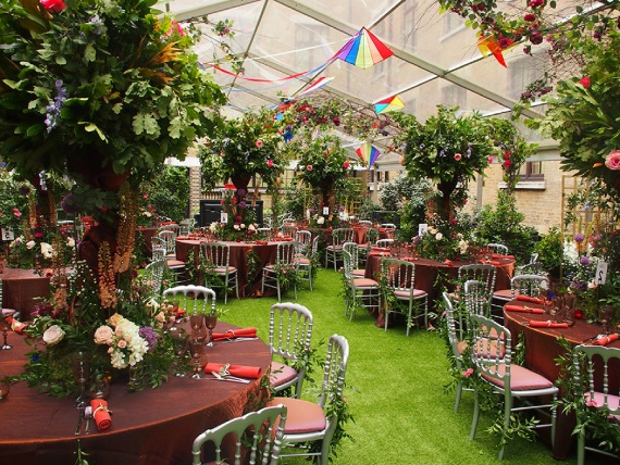 Venue ready for summer party