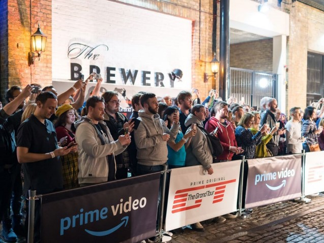 Crowds during the filming of Top Gear at The Brewery